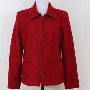 Pendleton merino wool blazer jacket women's M